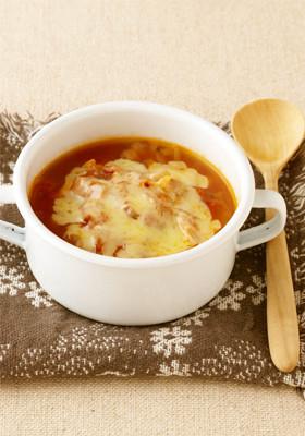 簡単美味・とろとろチーズのトマトスープ