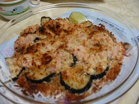 鶏肉と茄子のパン粉焼き