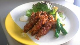 甘辛ソースDE舞茸の豚バラロール
