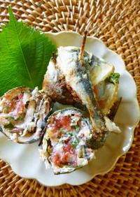 秋刀魚の梅しそロール