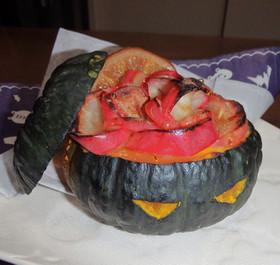 ハロウィンに!丸ごと南瓜の大人焼き林檎☆
