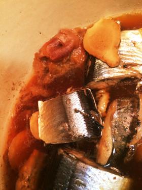 魚のおかず♡さんまの梅煮