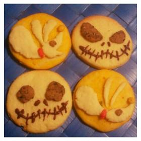 ジャックとゼロの3色クッキー