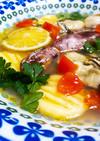 米粉ニョッキと海鮮入りピリ辛ライムスープ