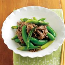 アスパラガスと牛肉の中華炒め