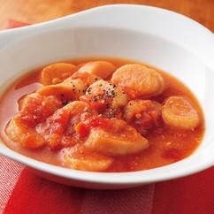 麩とトマト缶の簡単スープ