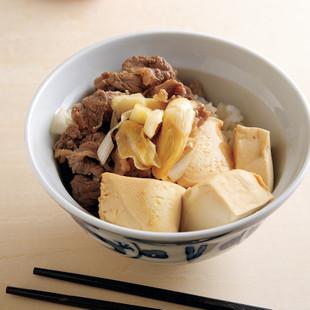 男の肉豆腐丼