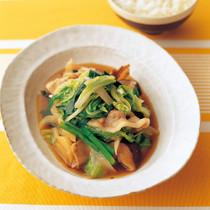 豚肉と白菜のしょうゆ煮込み