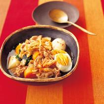 豚肉と根菜のキムチ煮込み