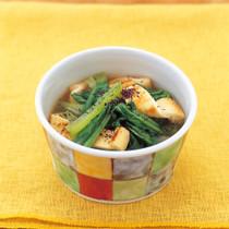 小松菜と油揚げの煮びたしゆかり風味