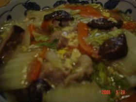 干し椎茸のだしで◆中華風、野菜の旨煮◆