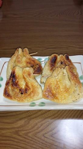 薄揚げの納豆包み焼き