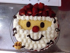 サンタのクリスマスケーキ デコレーション