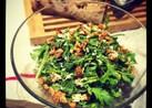 春菊とブルーチーズと胡桃のサラダ