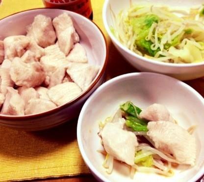 【ダイエット!】やわやわ鶏胸肉+温野菜