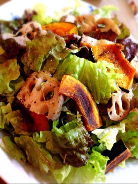 秋野菜のフレンチ風サラダ