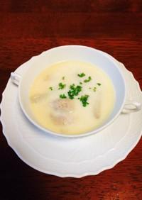 ☆里芋&鶏肉☆粉チーズ入りミルクスープ