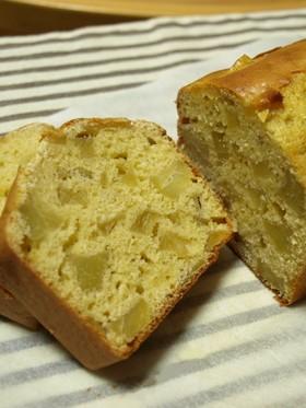 さつまいもとリンゴどっさりパウンドケーキ