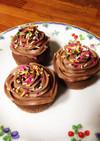 チョコバタークリームのNYカップケーキ