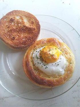 冷凍卵でラピュタパン風ラピュタマフィン♪