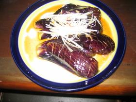 揚げなす ピリカラ酢醤油