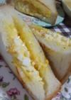 厚切り食パンで★我が家の卵トーストサンド
