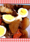 美味、豚バラ肉と大根の照り煮
