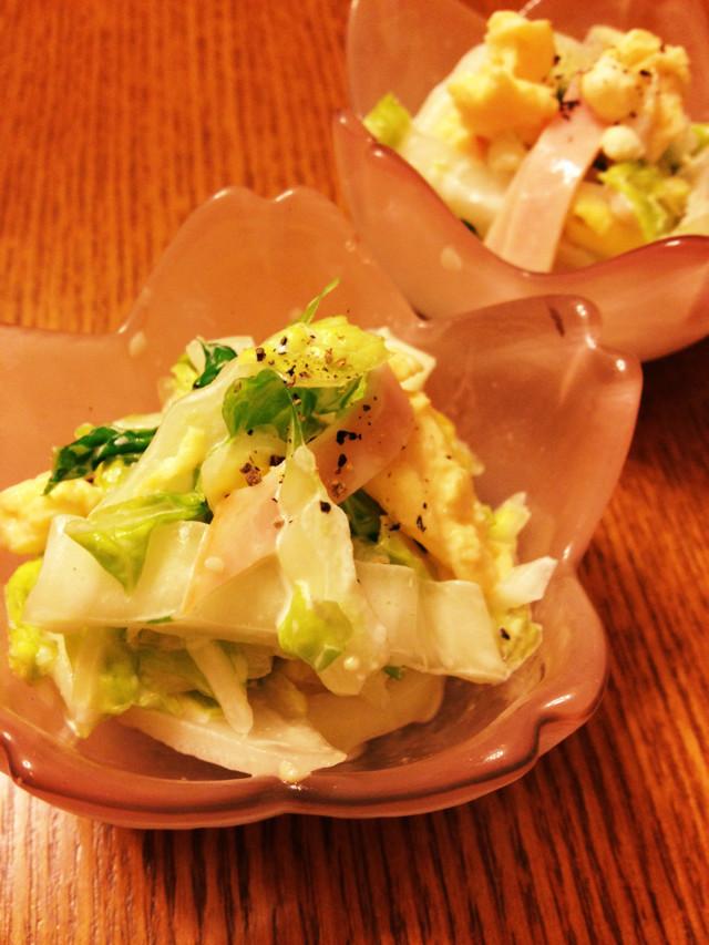 子供もおかわり!白菜のカルボナーラサラダ