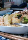 リゾット風ドリアと豚肉の甘醤油焼き