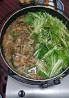 簡単!豚バラ肉と水菜の鍋