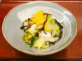柿と白菜と塩昆布の切り漬け