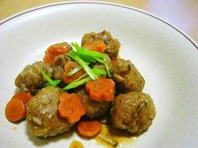 レンコン団子の甘辛煮