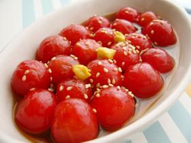 ヤマキのめんつゆで、プチトマトのマリネ☆