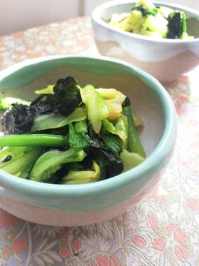 小松菜とキャベツのサッと茹で*海苔和え*