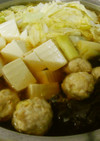 昆布と焼つくね鍋