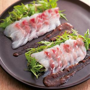 鯛と水菜の梅カルパッチョ