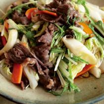 白菜と水菜のプルコギ