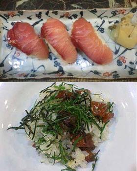 ぶりの寿司2種♪にぎり寿司とヅケちらし!