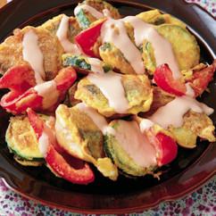 鮭&野菜のピカタ オーロラソース
