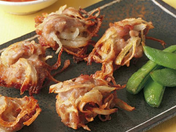 豚肉と玉ねぎの落とし揚げ
