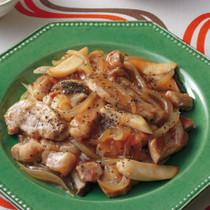 豚肉とエリンギの塩とろみ炒め