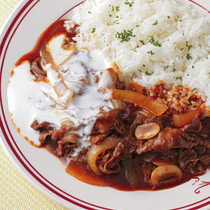 牛肉とマッシュルームのハヤシライス