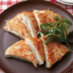 せん切りポテトと鶏肉のガレット