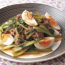 小松菜と牛肉のソース炒め