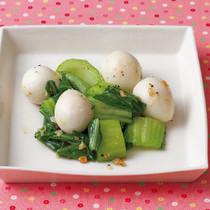 うずら卵と青梗菜のガーリックソテー