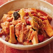 鶏肉とキャベツの和風トマト煮