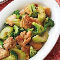 鶏肉とブロッコリーのオイスターカレー炒め