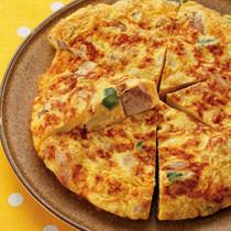 鶏肉と野菜の明太オムレツ