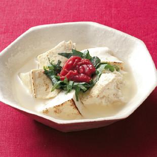 焼き豆腐の梅しそ風味