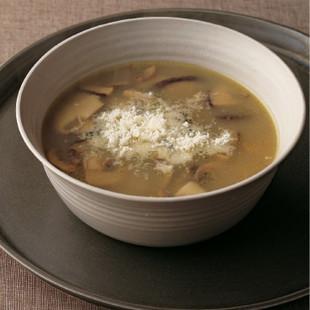 きのこのチーズスープ